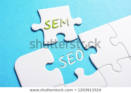 SEM - Text on Blue Puzzles. Stock photo © tashatuvango