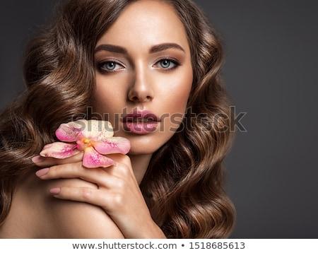 Kéjes lány alsónemű élvezet kanapé nő Stock fotó © ssuaphoto