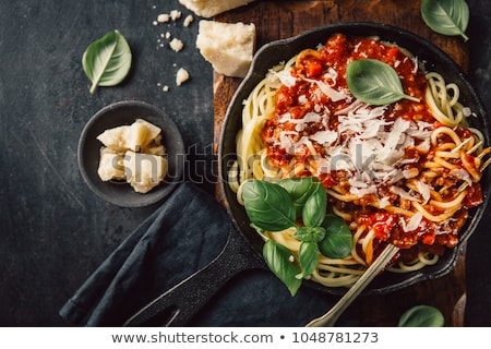 pasta with sauce on a fork Stock photo © Rob_Stark
