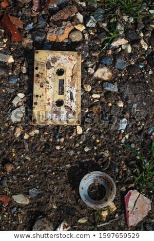 Destruido cassette cinta retro sonido registro Foto stock © AlphaBaby