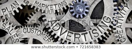 Metal pazarlama metin imzalamak mektup pazar Stok fotoğraf © bosphorus
