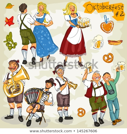 Dancing at Oktoberfest. stock photo © Fisher