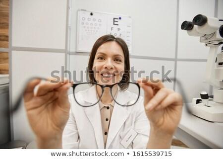 Optometrist gözlük genç kadın Stok fotoğraf © master1305
