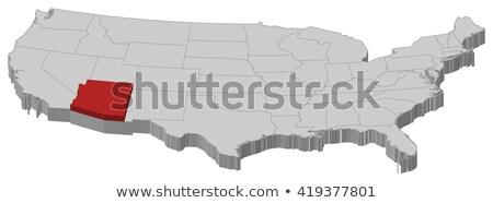 3D · kaart · Verenigde · Staten · Arizona · gerenderd · USA - stockfoto © iqoncept