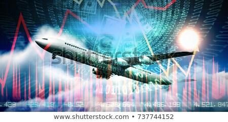 Digitally generated white graphic airplane Stock photo © wavebreak_media