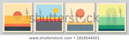 karanlık · gün · batımı · soyut · doğa · dizayn · vektör - stok fotoğraf © balabolka