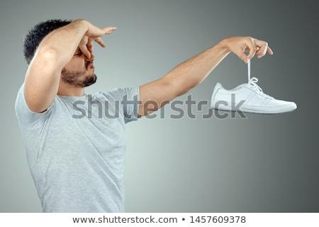 Człowiek buty zapach uruchomiony buty Zdjęcia stock © jackethead