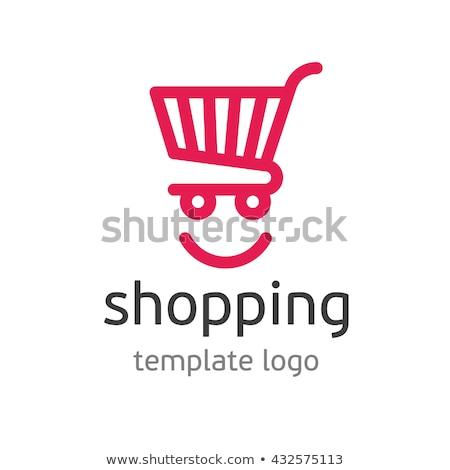 Logo vásárlás absztrakt bevásárlókocsi üzlet háló Stock fotó © shawlinmohd