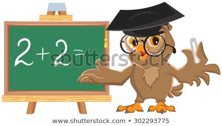 owl teacher leads math lesson stock photo © orensila