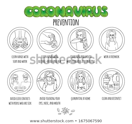 Chemical bottle with virus and bacteria sketch icon Stock photo © RAStudio
