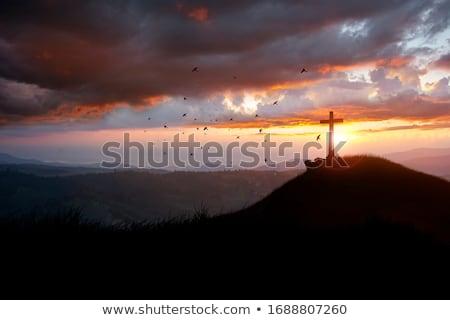Prière grave illustration amour croix couple Photo stock © adrenalina