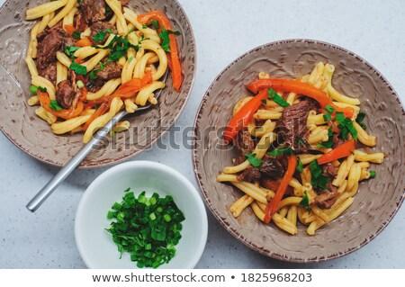 stewed sweet pepper with parmesan  Stock photo © zoryanchik