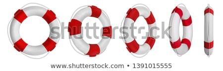 rojo · salvavidas · blanco · mar · buque · vida - foto stock © netkov1