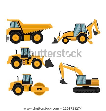 Construction caterpillar machine mover Stock photo © ia_64