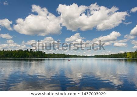 公園 · オンタリオ · 赤 · カヌー · 秋 · 秋 - ストックフォト © pictureguy