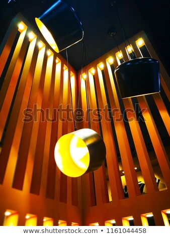 interior restaurant decoration warm wood ceiling  Stock photo © lunamarina