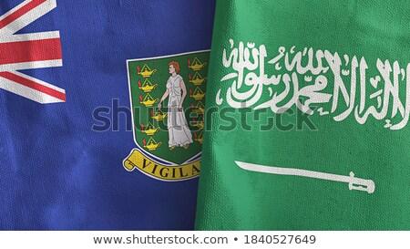 Arabia Saudyjska Wyspy Dziewicze brytyjski flagi puzzle odizolowany Zdjęcia stock © Istanbul2009