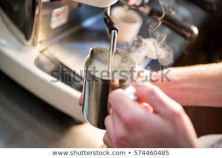 Mleka parowiec pić wanilia gałka muszkatołowa cynamonu Zdjęcia stock © Digifoodstock