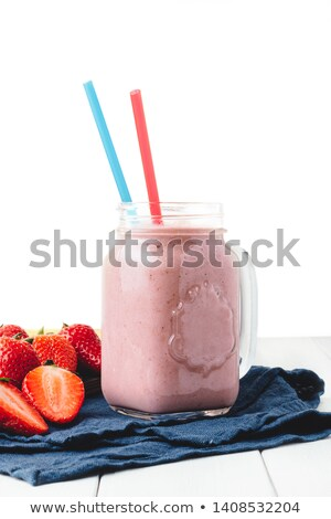 Strawberry milkshake isolated o Stock photo © fanfo