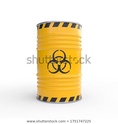 Bioveszély stilizált feliratok üzlet fém felirat Stock fotó © tracer