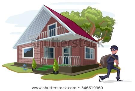 tolvaj · ablak · vektor · ház · biztosítás · betörő - stock fotó © orensila