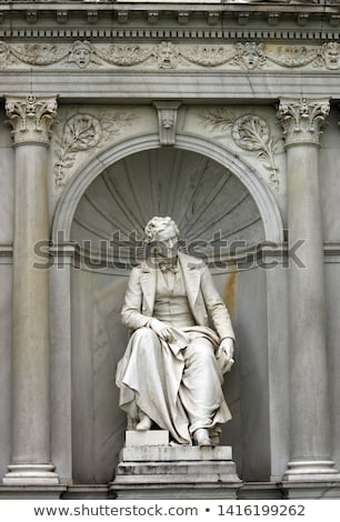 volksgarten park and monument poet franz grillparzer stock photo © vladacanon