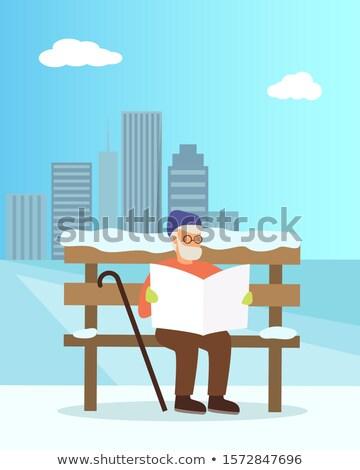 starszy · człowiek · wieżowce · budowy · działalności · miejskich - zdjęcia stock © Paha_L
