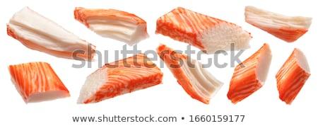 Yengeç balık gıda turuncu beyaz stüdyo Stok fotoğraf © jarp17