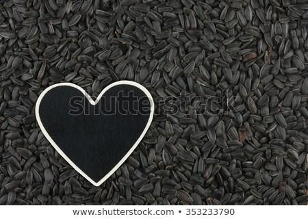 Hart prijs tag zonnebloem zaden Stockfoto © alekleks