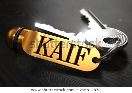 Keys with Word Rapture on Golden Label. Stock photo © tashatuvango