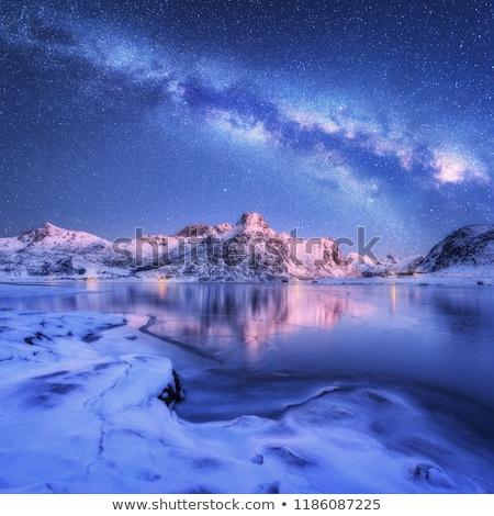 Sarkköri jég éjszaka messze észak óceán Stock fotó © tracer