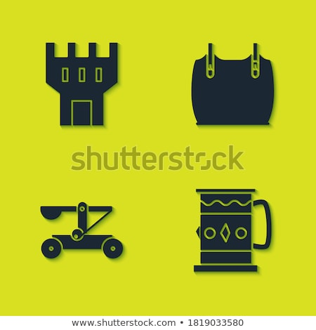 old wooden catapult vector illustration stock photo © konturvid