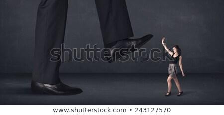 гигант человек мало деловая женщина женщину фон Сток-фото © ra2studio