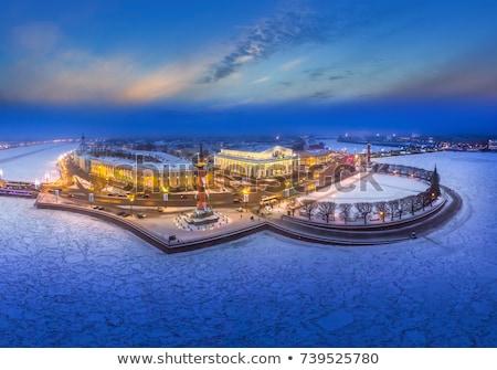Mroźny zimą dzień niebo rzeki Zdjęcia stock © SergeyAndreevich