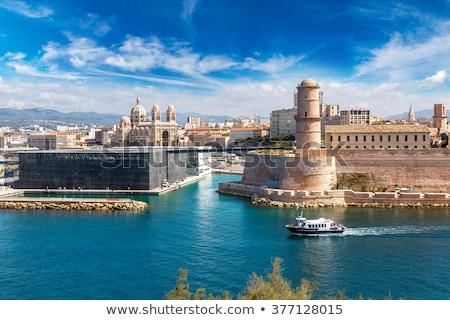 View of the historic Cathedral de la Major, in Marseille, France Stock photo © meinzahn