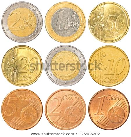 Fünfzig Euro Münze cent isoliert weiß Stock foto © seen0001