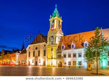 Old Town hall at night, Bratislava, Slovakia Stock photo © phbcz