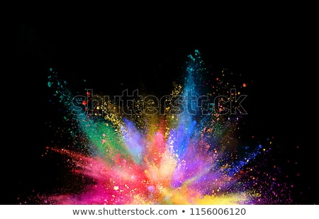 abstract rainbow colors black background Stock photo © romvo