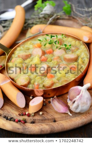Lentils and vienna sausages Stock photo © Digifoodstock