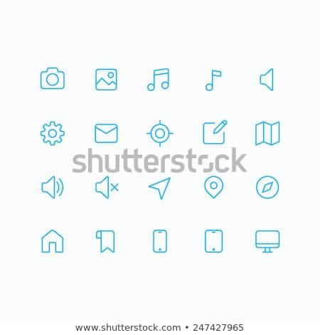 telefone · linha · ícone · tela · teia - foto stock © rastudio
