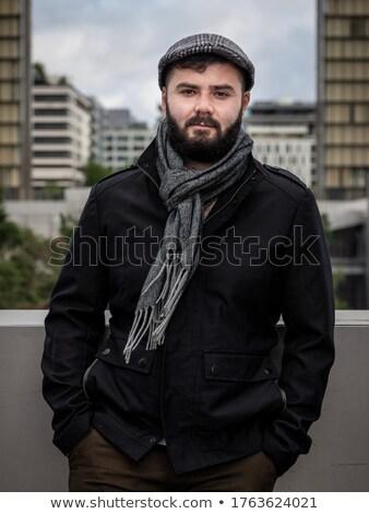Jóképű szakállas férfi Párizs Franciaország higgadt Stock fotó © dariazu