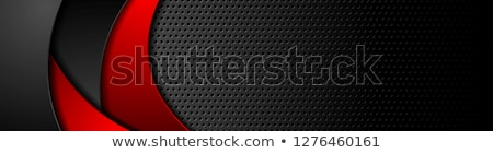 contrast red black smooth wavy background stock photo © saicle