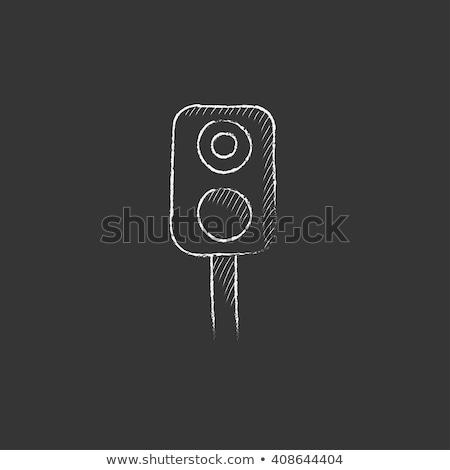 信号 · チョーク · アイコン · 手描き · ベクトル - ストックフォト © rastudio