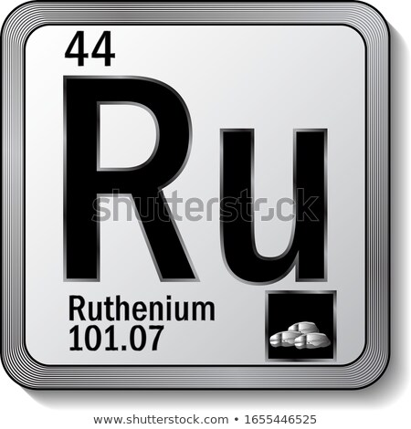 A button with the chemical Ruthenium Stock photo © bluering