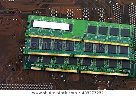 computer · ricordo · chip · primo · piano · view · blu - foto d'archivio © njnightsky