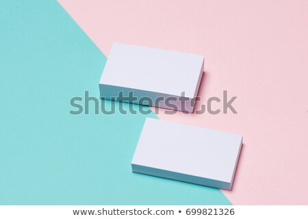 A gradient colored business card Stock photo © bluering