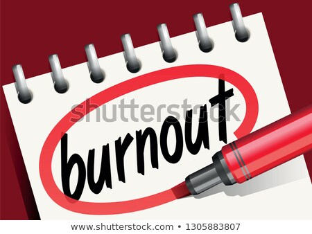 Burnout Red Marker Stock photo © ivelin