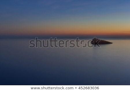 遊歩道 · 地中海 · 海 · 目に見える · 地平線 · スペイン - ストックフォト © amok