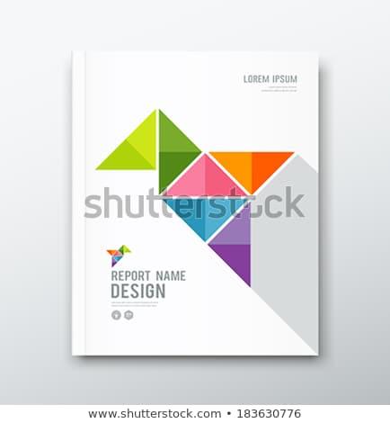 Purple Annual report template vector illustration Stock photo © ganpanjanee