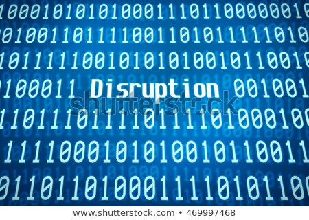 binary code with the word platform in the center stock photo © zerbor